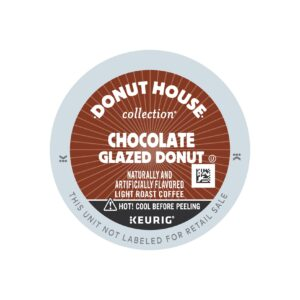 Donut House Collection Light Roast Flavored Chocolate Glazed Donut Coffee